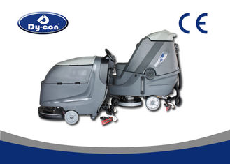Double Brushes Four Battery Powered Floor Scrubber  Rubber Blade